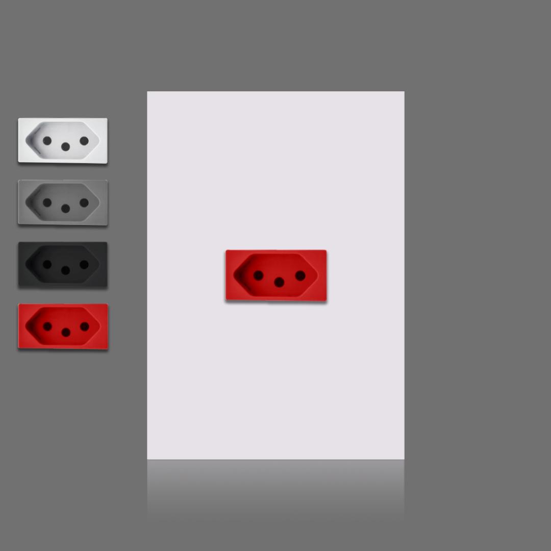 1 tomada vermelha